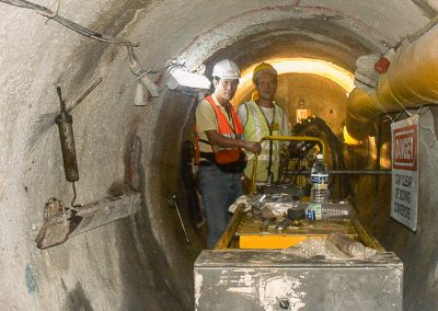 BSS did Horizontal Site Investigation to reduce tunneling risks by minimizing geological uncertainty